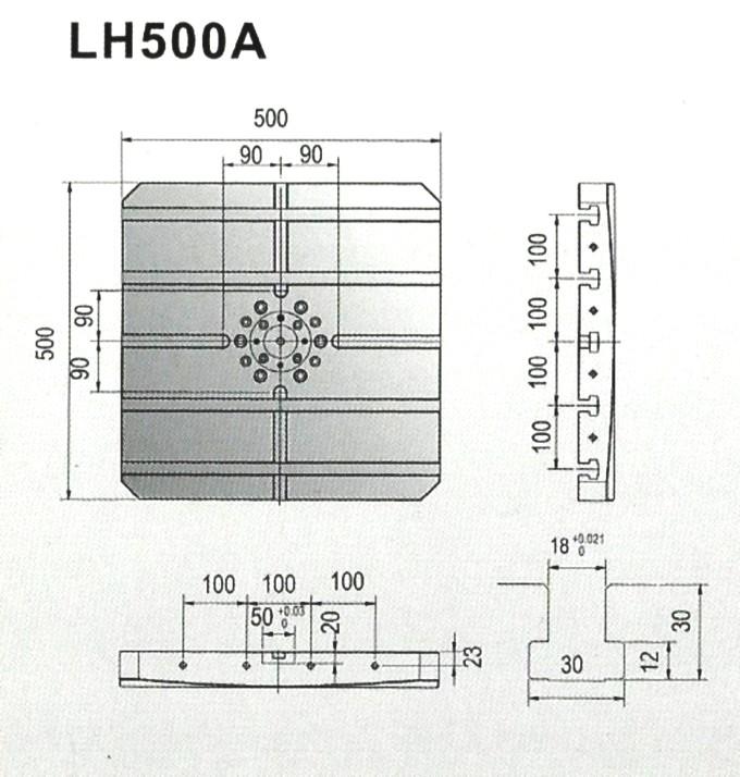 LH500A工作台尺寸
