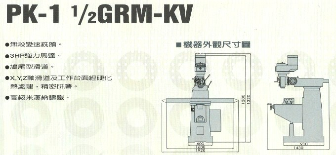 PK-1 12GRM-KV尺寸圖